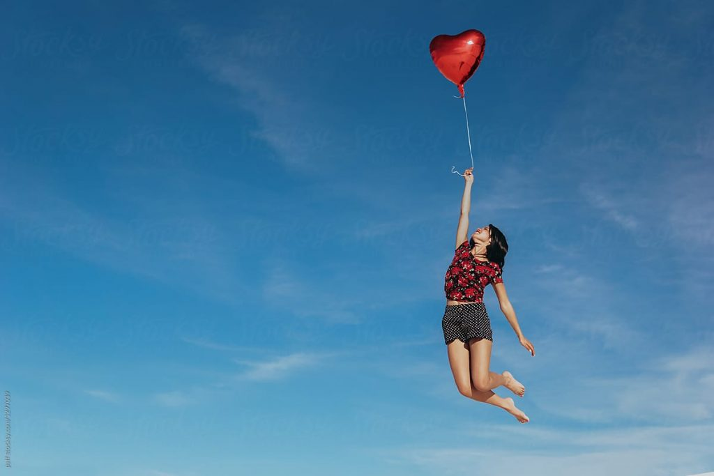 Fly away with a balloon