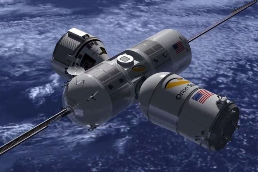 Stay in a space hotel
