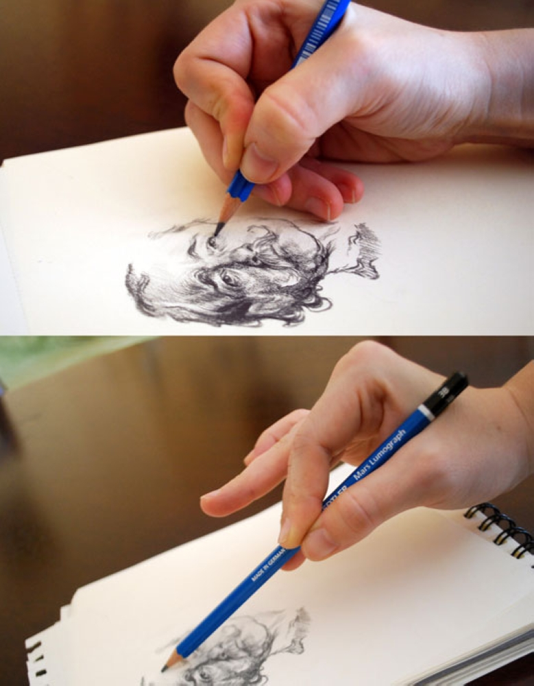 2. Learn to control your pencil