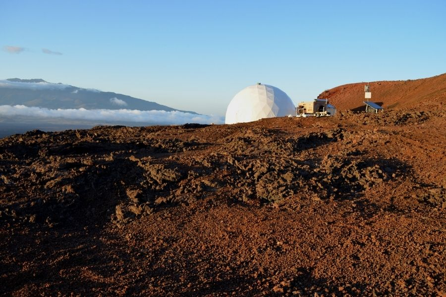 a group of scientists working in Hawaii but pretending they are on Mars