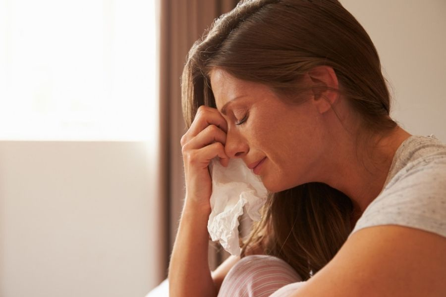 Crying signs that you're emotionally exhausted
