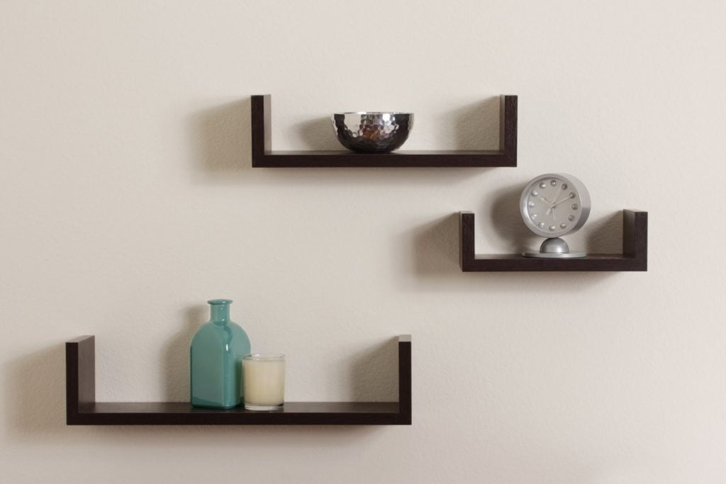Hang floating shelves