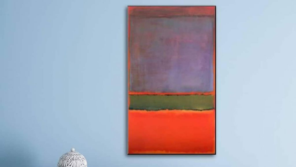 'No.6' (Violet, Green, and Red) By Mark Rothko