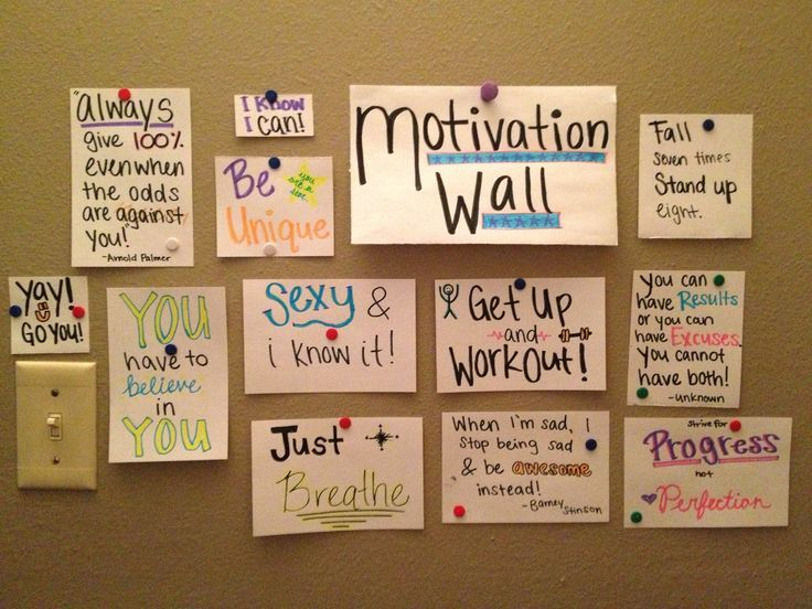 Paste Your Favorite Quotes And Pictures In Your Room