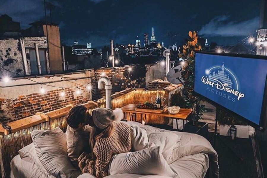 Plan A Rooftop Movie Night