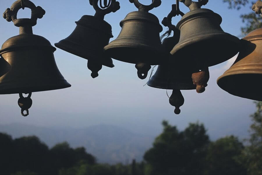 Ringing Bells in the temple