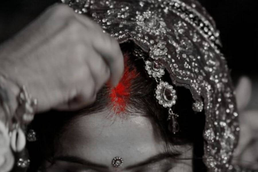 Sindoor- A part of makeup for married woman