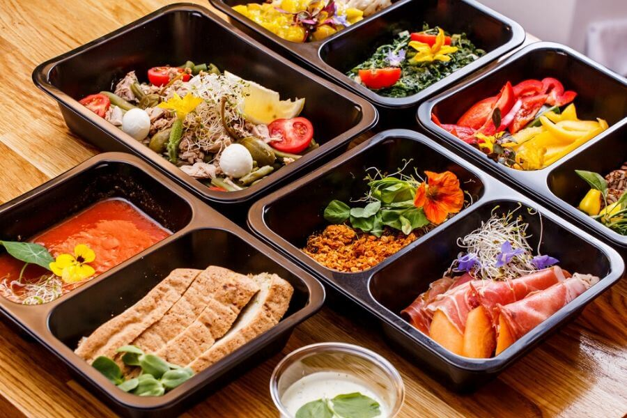 When ordering food, request no plastic packaging